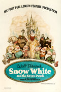 "Movie Posters:Animation, Snow White and the Seven Dwarfs (RKO, 1937). One Sheet (27"" X 41"")Style B, Gustaf Tenggren Artwork.. ..."