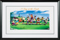 "Golf Collectibles:Autographs, 2000 Arnold Palmer Signed ""A Day at the Links"" Looney Tunes Printfrom The Gary Carter Collection...."