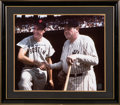 Baseball Collectibles:Photos, 1990's Ted Williams with Babe Ruth Signed Oversized Photograph fromThe Gary Carter Collection. ...