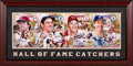 Baseball Collectibles:Photos, 2004 Hall of Fame Catchers Multi-Signed Oversized Photograph fromThe Gary Carter Collection. ...