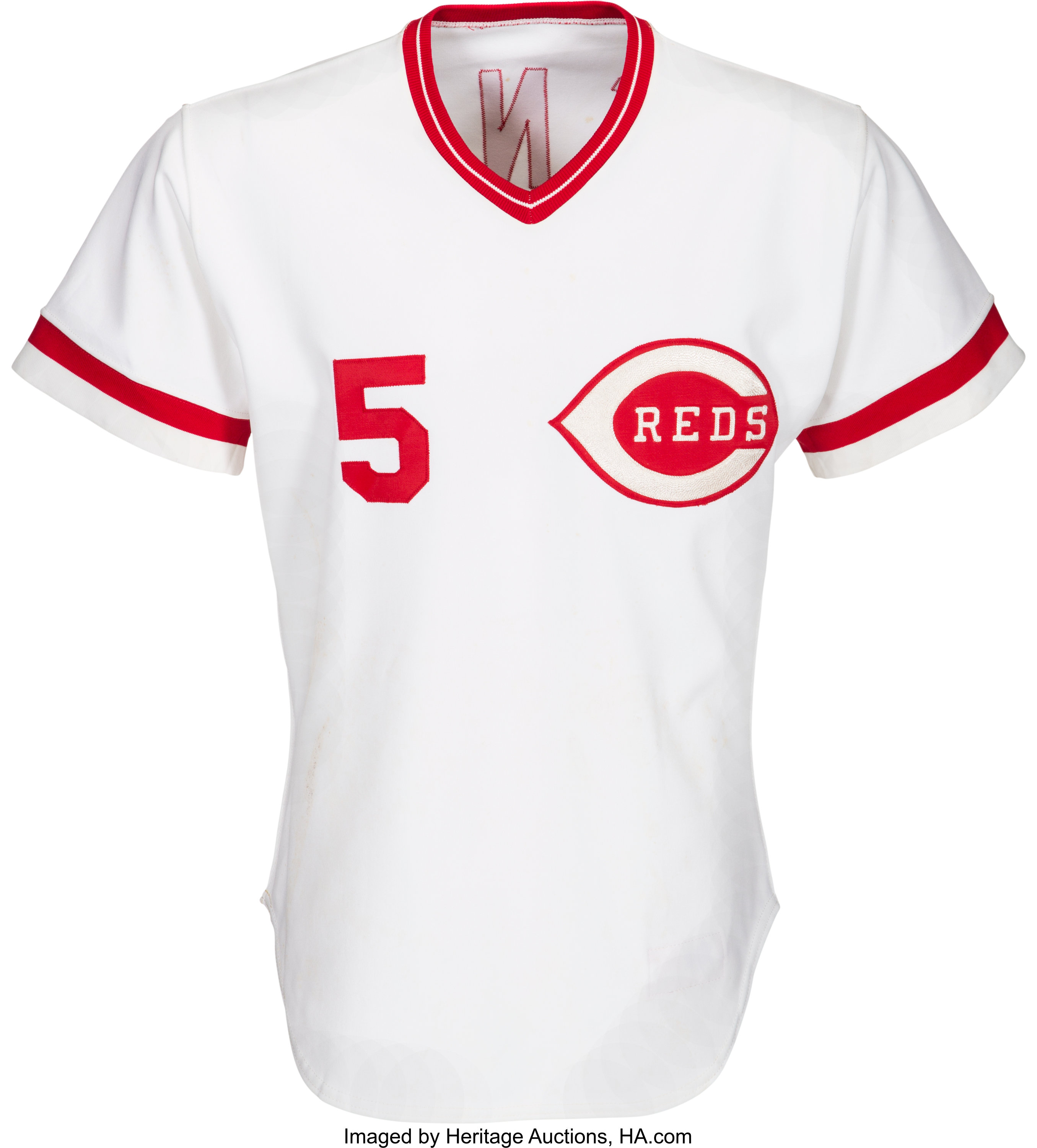 best loved 1a40f f3010 1982 Johnny Bench Game Worn & Signed Cincinnati Reds Jersey ...