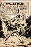 Original Comic Art:Covers, Dan Adkins Strange Tales #162 Doctor Strange Cover OriginalArt (Marvel, 1967)....
