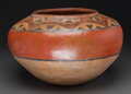 American Indian Art:Pottery, A Large Zia Polychrome Jar. c. 1945. ...