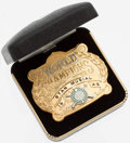 Baseball Collectibles:Others, 1942 Stan Musial World Champions Commemorative Belt Buckle....