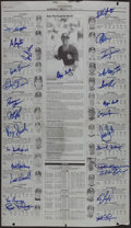 Baseball Collectibles:Publications, 1992 St. Louis Cardinals Team Signed Printing Plate....