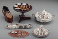 Silver Smalls:Other , A Collection of Silver, Glass, and Wooden Dollhouse MiniatureTablewares, circa 1930-1940. Marks: (various). 3-1/4 inches hi...(Total: 13 Items)
