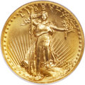 High Relief Double Eagles, 1907 $20 High Relief, Wire Rim MS66 NGC....