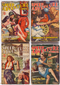 Speed Adventure Stories Group of 14 (Trojan Publishing, 1943-45) Condition: Average GD/VG.... (Total: 14 Items)