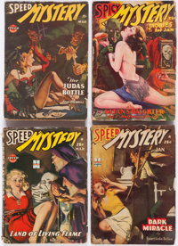 Spicy Mystery/Speed Mystery Group of 18 (Culture, 1936-46) Condition: Average GD.... (Total: 18 Comic Books)