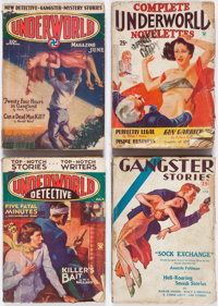 Assorted Gangster Pulps Group of 20 (Various, 1929-36) Condition: Average GD.... (Total: 20 Items)