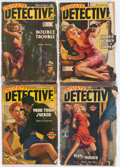 Pulps:Detective, Assorted Detective Pulps Box Lot (Various, 1942-49) Condition: Average GD....