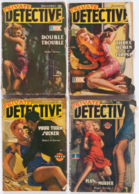 Assorted Detective Pulps Box Lot (Various, 1942-49) Condition: Average GD