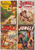 Pulps:Adventure, Assorted Jungle Pulps Box Lot (Various, 1931-54) Condition: Average GD/VG....