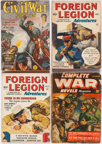 Assorted War Pulps Group of 10 (Various, 1940-43) Condition: Average GD/VG.... (Total: 10 Comic Books)