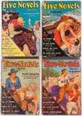 Pulps:Miscellaneous, Five Novels Monthly Box Lot (Various, 1935-47) Condition: Average GD/VG.... (Total: 2 Box Lots)