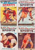 Pulps:Miscellaneous, Assorted Sports Pulps Box Lot (Various, 1933-37) Condition: Average GD....