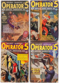Pulps:Detective, Operator #5 Group of 38 (Popular, 1934-39) Condition: Average GD.... (Total: 38 Items)