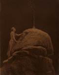 Photographs:Orotone, Edward Sheriff Curtis (American, 1868-1952). Signal Fire to the Mountain God, 1912. Orotone. 13-1/2 x 10-1/2 inches (34....