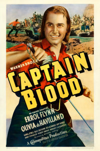 "Captain Blood (Warner Brothers, 1935). One Sheet (27"" X 41"")"