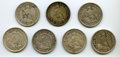Chile, Chile: Republic Lot of Seven Pesos,... (Total: 7 coins)