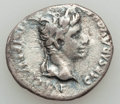 Ancients:Roman Imperial, Ancients: Augustus (27 BC-AD 14). AR denarius (3.58 gm). NearlyVF....