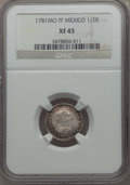 Mexico, Mexico: Charles III 1/2 Real 1781 Mo-FF XF45 NGC,...