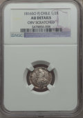Chile, Chile: Ferdinand VII 1/2 Real 1816 So-FJ AU Details (ObverseScratched) NGC,...