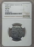 Mexico, Mexico: Philip III Cob 2 Reales ND (1607-1616) Mo-F AU50 NGC,...