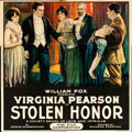 "Movie Posters:Drama, Stolen Honor (Fox, 1918). Six Sheet (80"" X 82""). ..."