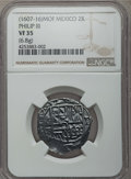 Mexico, Mexico: Philip III Cob 2 Reales ND (1607-1616) Mo-F VF35 NGC,...