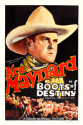 """Movie Posters:Western, Boots of Destiny (Grand National, 1937). One Sheet (27.5"""" X 41"""").. ..."""