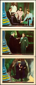 """Movie Posters:Horror, Son of Dracula (Universal, 1943). Lobby Cards (3) (11"""" X 14"""").. ...(Total: 3 Items)"""