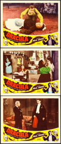 "Movie Posters:Horror, Dracula (Realart, R-1951). Lobby Cards (3) (11"" X 14"").. ...(Total: 3 Items)"