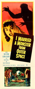 """Movie Posters:Science Fiction, I Married a Monster from Outer Space (Paramount, 1958). Insert (14""""X 36"""").. ..."""