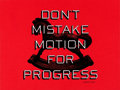 "Movie Posters:Miscellaneous, Facebook Motivational Poster (Facebook, 2010s). Screen Print Poster (18"" X 24"") ""Don't Mistake Motion for Progress."". ..."