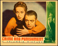 """Movie Posters:Drama, Crime and Punishment (Columbia, 1935). Lobby Card (11"""" X 14"""").. ..."""