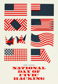 """Movie Posters:Miscellaneous, National Day of Civic Hacking Facebook Poster (Facebook, 2013). Screen Print Poster (18"""" X 26"""").. ..."""