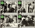 "Movie Posters:Horror, Night of the Living Dead (Continental, 1968). Lobby Cards (4) (11""X 14"").. ... (Total: 4 Items)"