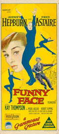 "Movie Posters:Romance, Funny Face (Paramount, 1957). Australian Post-War Daybill (13"" X 30"").. ..."