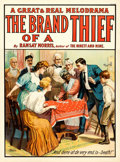 "Movie Posters:Drama, The Brand of a Thief (c.1910). Theatrical Poster (28.5"" X 38.5"").. ..."