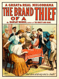 "The Brand of a Thief (c.1910). Theatrical Poster (28.5"" X 38.5"")"