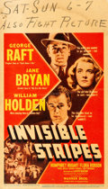 "Movie Posters:Crime, Invisible Stripes (Warner Brothers, 1939). Linen Finish MidgetWindow Card (8"" X 14"").. ..."