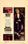 "Movie Posters:Drama, Rebel without a Cause (Warner Brothers, 1955). Window Card (14"" X22"").. ..."