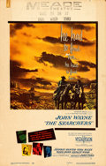 "Movie Posters:Western, The Searchers (Warner Brothers, 1956). Window Card (14"" X 22"").. ..."
