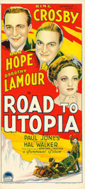"Movie Posters:Comedy, Road to Utopia (Paramount, 1946). Australian Post-War Daybill (13.5"" X 30"").. ..."