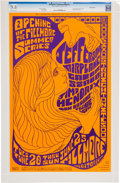Music Memorabilia:Posters, Jimi Hendrix/Jefferson Airplane Fillmore Auditorium Concert Poster BG-69 CGC 9.8 (Bill Graham, 1967)....