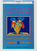 Music Memorabilia:Posters, Doors Avalon Ballroom Concert Poster FD-61 Signed by Artist VictorMoscoso CGC 9.8 (Family Dog, 1967)....
