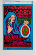 Music Memorabilia:Posters, Doors/Chuck Berry/Big Brother And The Holding Company WinterlandConcert Poster BG-99 CGC 9.8 (Bill Graham, 1967)....