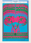 Music Memorabilia:Posters, Doors Avalon Ballroom Concert Poster FD-64 Signed By Artist VictorMoscoso CGC 9.8 (Family Dog, 1967)....