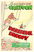 "Movie Posters:Animation, Daredevil Droopy (MGM, 1950). One Sheet (27"" X 41"").. ..."
